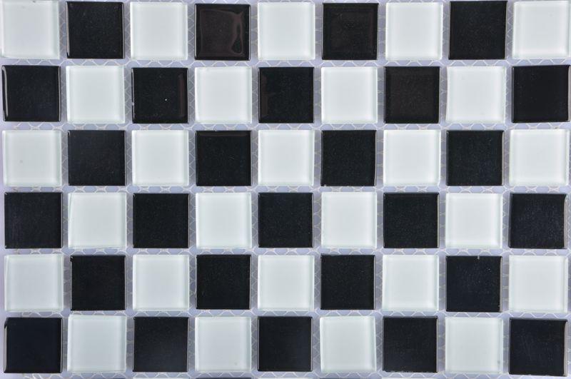 水晶玻璃黑白马赛克