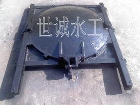 污水管道铸铁圆闸门安装