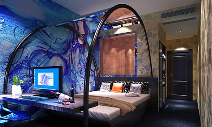 上海艾森情趣主题酒店装修效果图设计公司