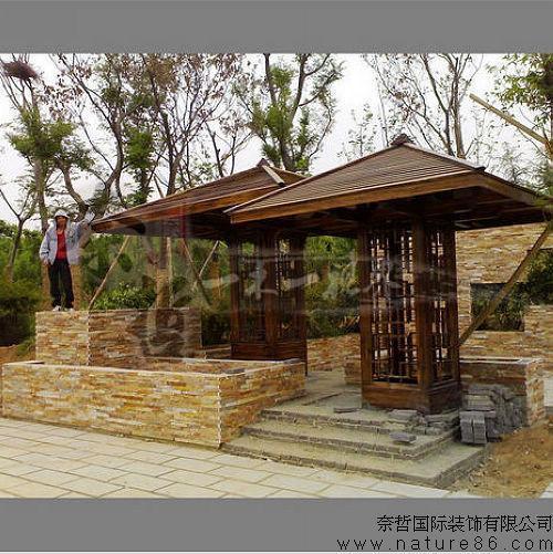 木结构凉亭/炭化木凉亭dz-005