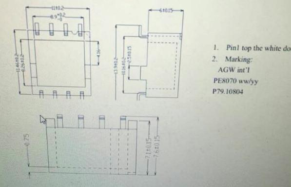 特制8pin贴片网络变压器1:1高u45mh网络滤波器网口_co