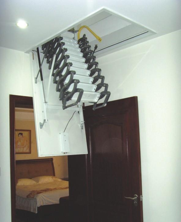 阁楼伸缩楼梯图片