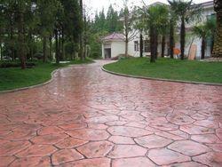 苏州彩色混凝土艺术压模地坪透水地坪