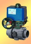 电动UPVC球阀电动塑料球阀电动塑料UPVC球阀电动三通UPVC球阀