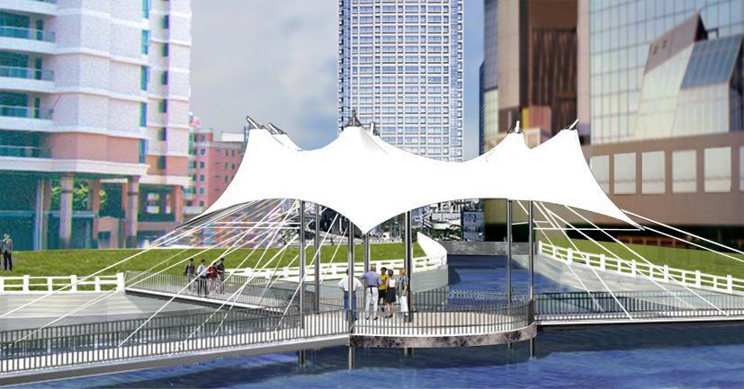 (飞机场,火车站,码头,停车场,天桥,加油站,收费站等) 景观设施 .