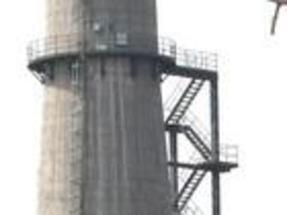 水泥烟囱折梯安装