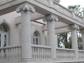 白色砂岩栏杆柱MCS200