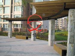 弧形木廊架