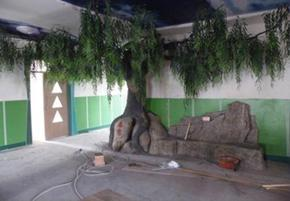 人造水泥假树
