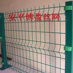 博盈市政围墙三角折弯铁丝网围栏@加高型折弯护栏网