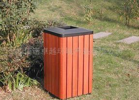 钢木垃圾箱
