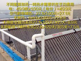 太阳能燃气并联系统 酒店餐饮供热水节能系统