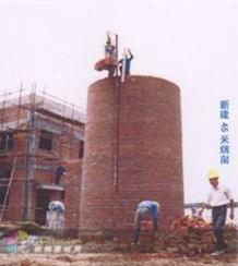 20米砖烟筒新建