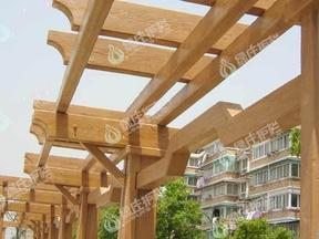 亭廊花架,仿木