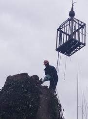 60米砖烟囱拆除工程