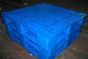 化工机械厂等重工业用双面网格塑料托盘