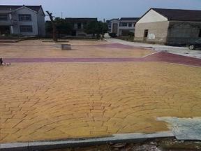 耐磨地坪艺术压花混凝土