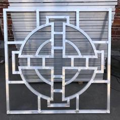 复古铝花窗/仿木纹铝花格/厂家定制