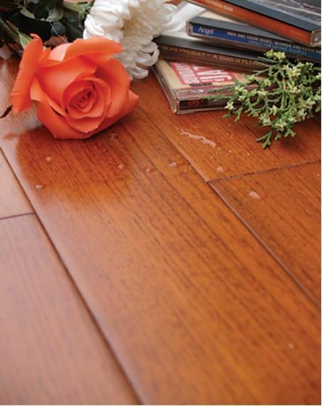 森林之旅柚木实木地热地板——精品直纹