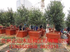 80X80 防腐木花箱花盆实木花坛 兰州正山工厂店