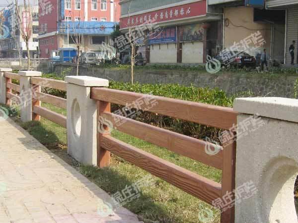 仿木,仿木栏杆,复合栏杆,石木护栏,绿化护栏,隔离