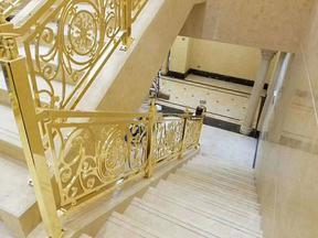 铜铝雕刻楼梯护栏06