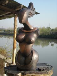 河北雕塑 人物景观摆饰树脂玻璃钢雕塑 圆雕