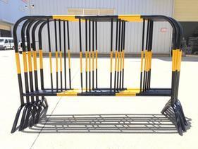 2017年HL-4151无痕烤漆施工铁护栏道路隔离栏黄黑栏