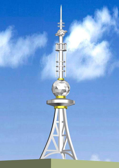 楼顶工艺塔,避雷塔,装饰塔