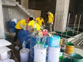 祯华化工废水收集池乙烯基防腐工程