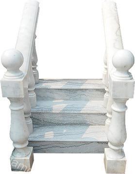 室内白色大理石栏杆柱mcs142