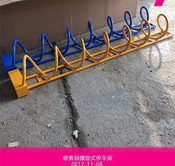 批发昆明马路上安装的共享自行车锁车架子