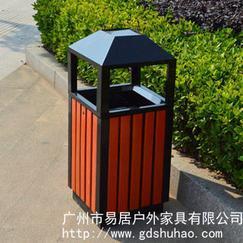 供应优质钢木垃圾桶 小区学校垃圾筒 户外垃圾桶