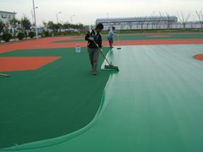 中山篮球场地坪、丙烯酸球场地坪