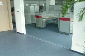 济南洁福写字楼办公室塑胶地板