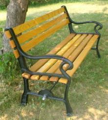 厂家直销广州公园椅 实木公园椅 休闲园林椅 广场公园椅
