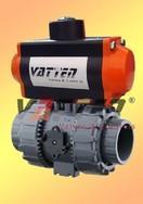 气动UPVC球阀气动塑料球阀气动UPVC塑料球阀气动三通L/T型球阀