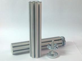 八棱柱—小器材大作用的展览铝材专业生产