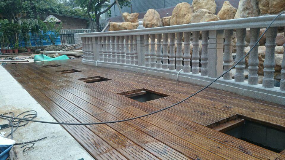 花园阳台木制花架_防腐木阳台 露台户外实木地板_CO土木在线