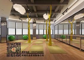 河南郑州高端瑜伽会所装修设计,河南瑜伽馆装修设计公司案例
