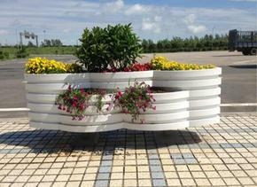 华庭景观花箱,PVC塑木发泡花箱,花箱厂家