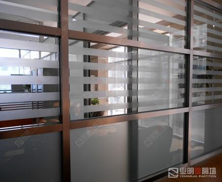 80系列拉丝不锈钢玻璃隔断墙,分格样式