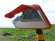 不锈钢方型安全凸面镜厂家,道路转角镜价格,公路弯道镜