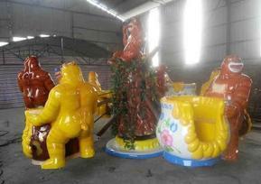 熊抱罐自控飞机河南儿童游乐设施厂家