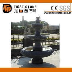 黑色石灰石喷泉雕刻MAF317