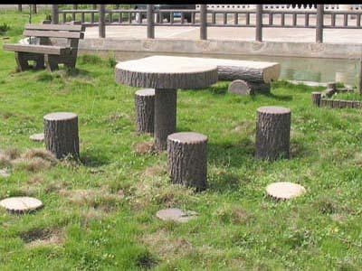 仿木桌凳,休憩桌椅,园林小品,绿化设施