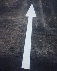 交通箭头划线 导向箭头路面标识划线 道路公路划线