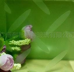 广州耐智 树叶竹叶花纹防滑玻璃地板玻璃 艺术玻璃