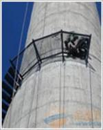 安徽烟囱平台旋转楼梯安装、Z形钢折梯安装、安装螺旋形爬梯