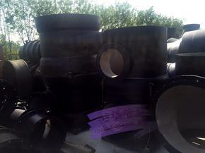 DN1600铸铁法兰三通接头管件